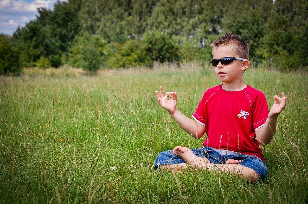 meditation, boy, nature
